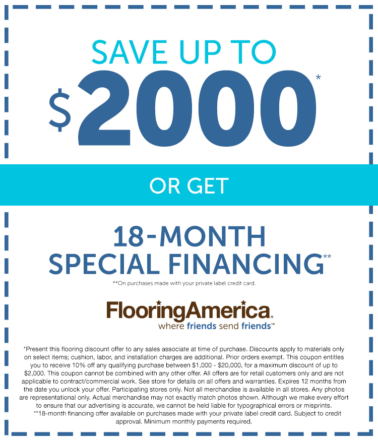 Coupon - Save up to $2000 or get 18-month special financing